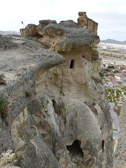 Cavusin, Rock, Tufa, Climb, Great, Flag, Ascent, Avanos
