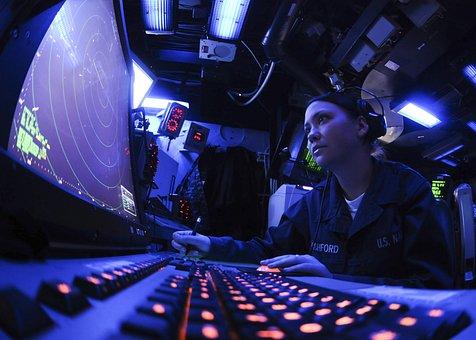 Sailor, Us Navy, Radar Technician, Screen, Controls