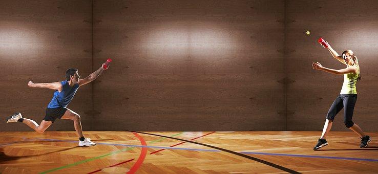 Sport, Man, Woman, Duel, Funsport, Team Sport