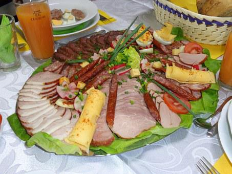 Meat Platter, Cold Meats, Eating, Holidays