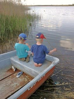 Children, Boot, Lake, Fish, Nature, Catch Fish, Boys