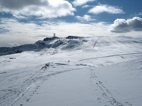 Italy, South Tyrol, Landscape, Winter, Snow, Ice, Sky