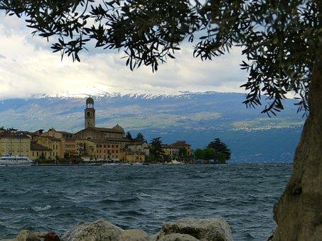 Salo, City, West Bank, Italy, Garda, Promenade, Steeple