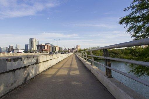 Austin, Bridge, Lady Bird Lake