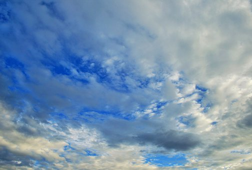 Clouds, Weather, Sky, Blue, White, Loose, Flocky