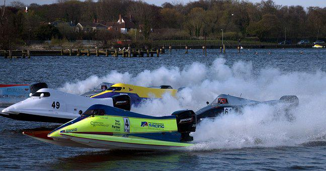 Powerboats, Oulton Broad, Summer, Speed