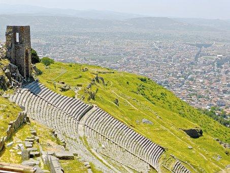 Amphitheatre, Bergama, Turkey, Pergamom, Remains