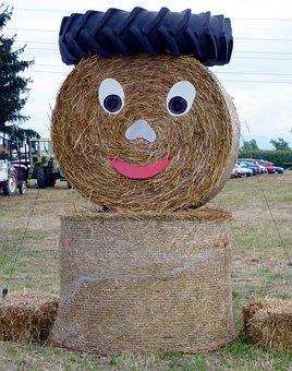 Rolls, Straw, Festival, Harvest, Field, Rural