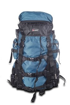Bags, Travel Bag, Blue, Luggage, Backpack, Load, Heavy