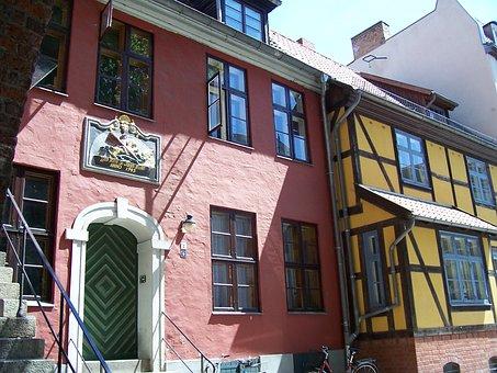 Fire Houses, Building, Truss, Stralsund, Hanseatic City