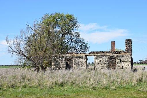Ruins, Farm House, Steiglitz, Victoria, Australia