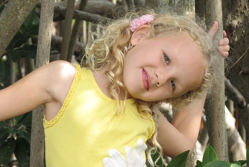 The Little Girl, A Smile, Yellow Blouse