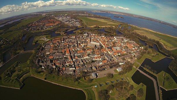 Naarden, Airphoto, Air, Fortress