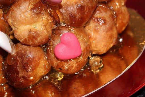 Eclair, Baking, Food, Honey, Love, Heart