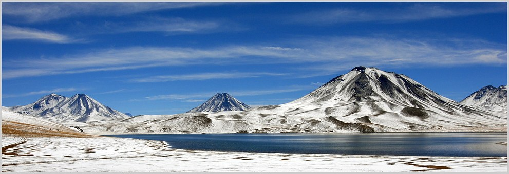 Chile, Mountains, Andes, Bergsee, Laguna Miscanti
