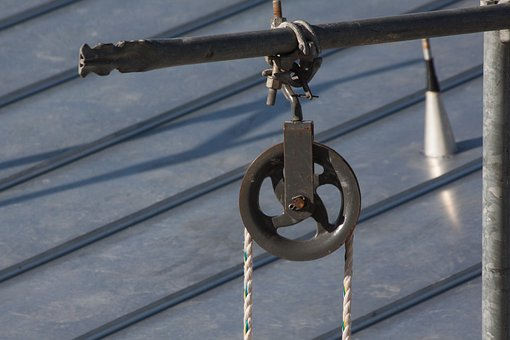 Block And Tackle, Machine, Moving Of Loads, Static Rope