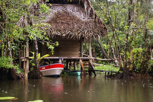 Water, Tropic, Tropical, Box, Canoe, Palapa