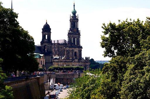 Hofkirche, Church, Dresden, Steeple, Old Town, Catholic