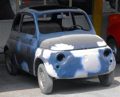 Car, Cinquecento, Small, Polished