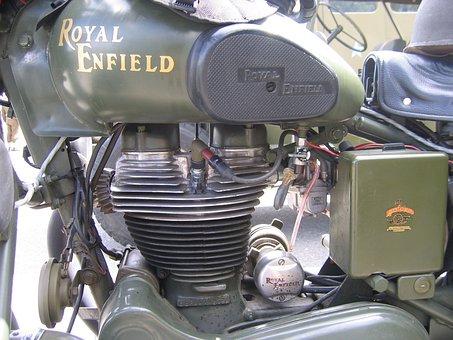 Motorcycle, Royal, Enfield, Vintage, Classic, Bike