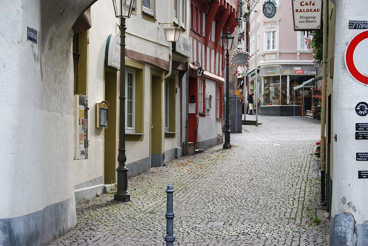 Boppard, Old Town, Alley, Cobblestones, Old Houses