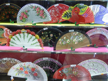 Spain, Subjects, Dance, Fan, Colorful, Souvenir, Shop