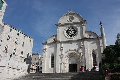 Dalmatia, Croatia, šibenik, Cathedral, Staircase