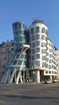 Prague, Dancing, House, Dancing House, Czech