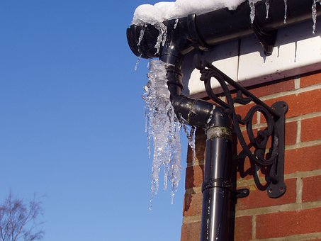 Frozen Ice, Icicle, Hard Winter, Ice, Frozen, Rain Pipe