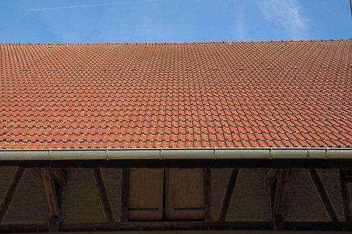 Roof, Gutter, Roofing, Barn, Scheuer, House Roof