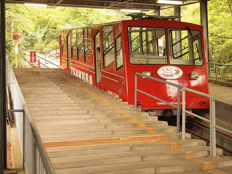 Monorail, Mountain Path, Mountain Climbing, Tsukuba