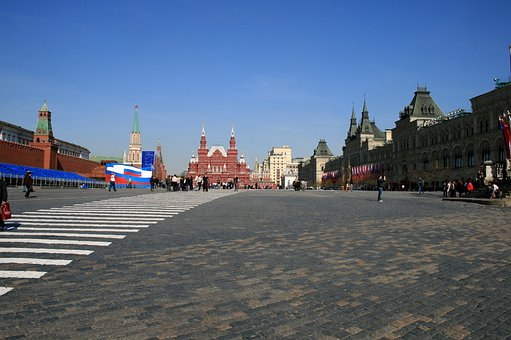 Red Square, Moscow, Paving, Pedestrian Lines