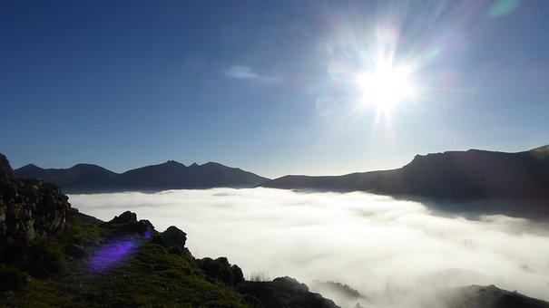 Mountain, Fog, Winter, Mountain Landscape, Spain, Sky