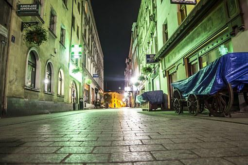 Old City At Night, Night, Old Town, Lighting