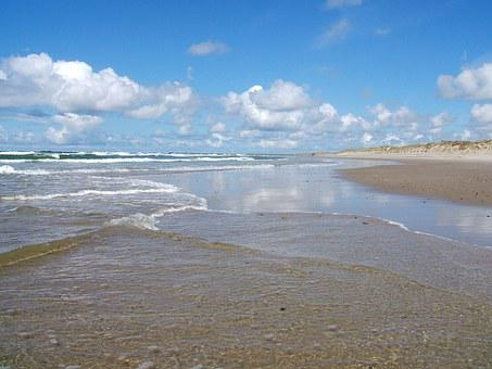 North Sea, Watts, Wadden Sea, Beach, Nordfriesland