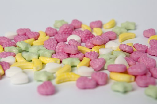 Candy, Sweets, Dragees, Powdered Candy, Powdery Pills