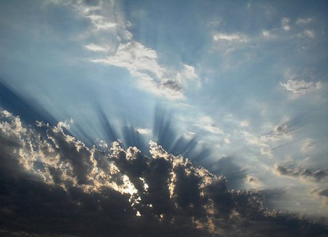 Clouds, Broken, Light, Pentrating, Rays, Shining