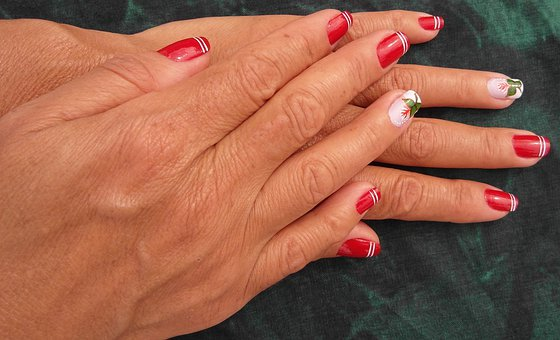 Hand, Hands, Finger, Nail Varnish, Art, Artwork, Red