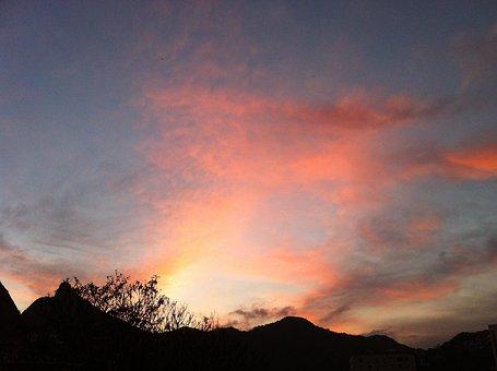 Sunset, Rio De Janeiro, Brazil, Mountain, Summer
