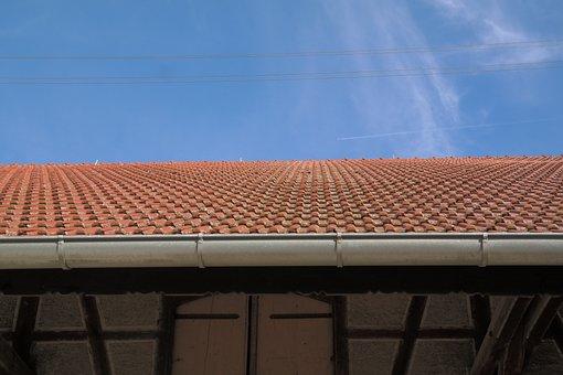 Roofing, Gutter, Roof, Barn, Scheuer, House Roof