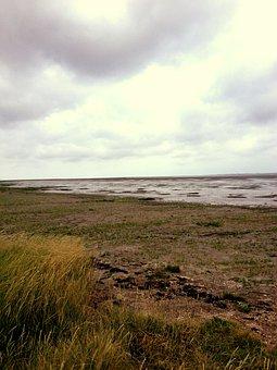 Beach, Sea, Watts, North Sea, Wadden Sea, Low Tide