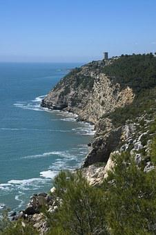 Sierra D'irta Spain, Seascape, Rocks, Cliff, Coast