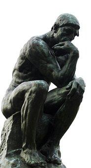 Thinker, Person, Sit, Sitting, Thinking, Statue