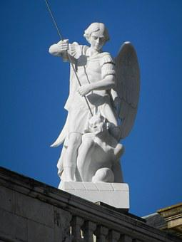 Angel, Madrid, Spain, Almudena Cathedral