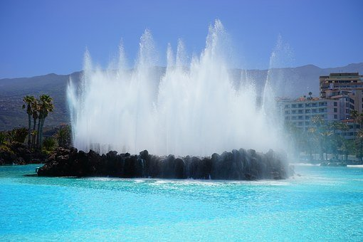 Fountain, Water Feature, Fountains, Water