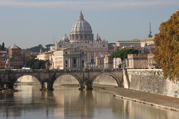 St Peter's Basilica, Rome, Bridge, Italy, Architecture