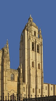 Bell Tower, Segovia, Cathedral, Spain, Architecture