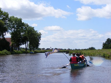 Paddle Tour, Canoeing, East Frisia, Fun, Boat, More