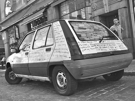 Car, Book, Bokbil