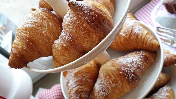 Croissant, Dough, Danish Pastry, Baked Goods, Breakfast